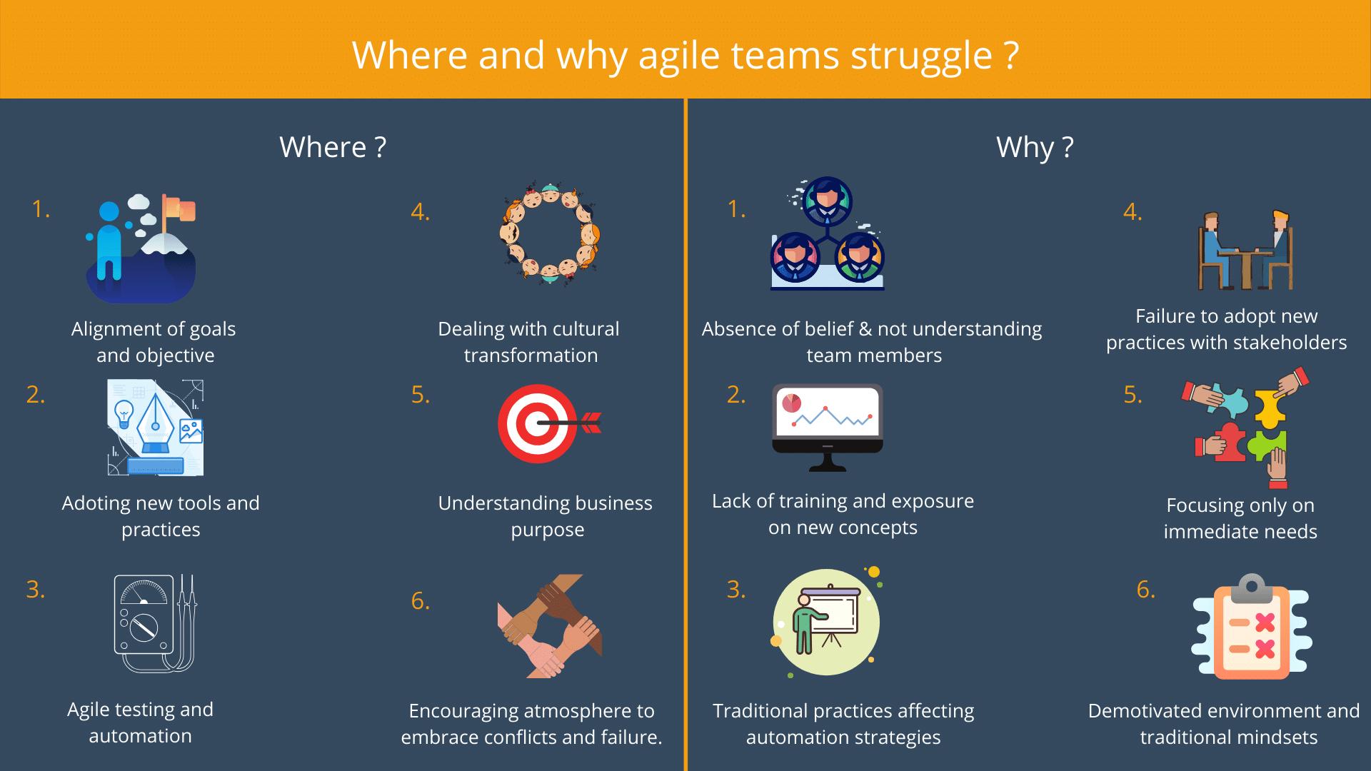 Where and why agile teams struggle _